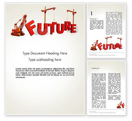 Making Future Word Template, 13208, Education & Training — PoweredTemplate.com