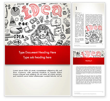 Business Concepts: Idea Doodles Word Template #13210
