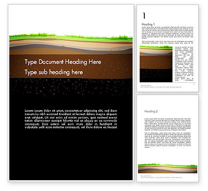 Education & Training: Soil Cut Word Template #13213