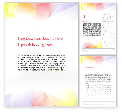 Abstract/Textures: Bright Soft Pastels Word Template #13219