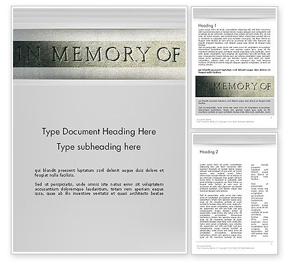 In Memory Of Word Template, 13225, Religious/Spiritual — PoweredTemplate.com