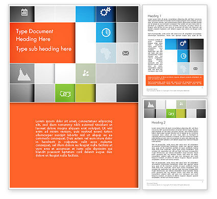 Grid Layout Word Template, 13231, Business Concepts — PoweredTemplate.com