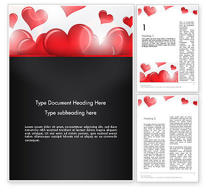 Holiday/Special Occasion: Valentines Day Love Word Template #13234