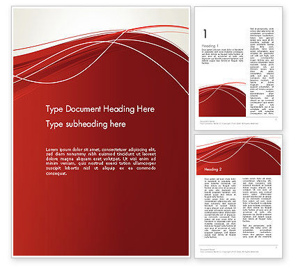 Abstract/Textures: Red Abstract Composition Word Template #13244