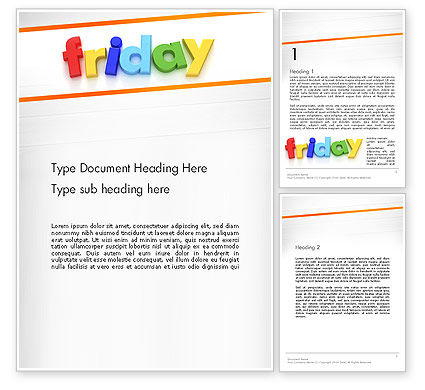 Friday Word Template, 13252, Holiday/Special Occasion — PoweredTemplate.com
