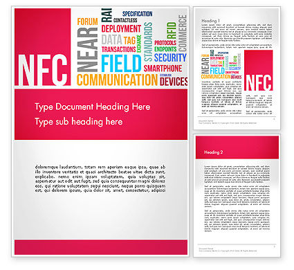 NFC Word Cloud Word Template, 13258, Telecommunication — PoweredTemplate.com