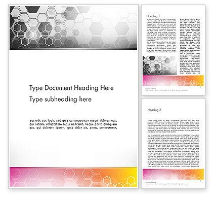Abstract/Textures: Templat Word Hexagons Abstrak #13260