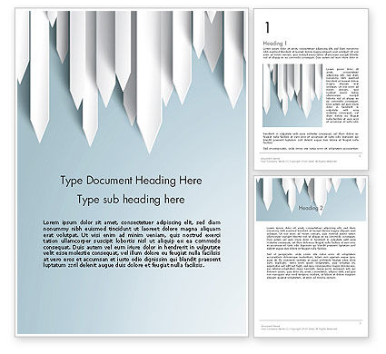 Business Concepts: Paper Right Arrows Word template #13263