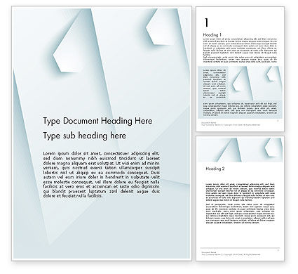 Abstract/Textures: White Paper Style Abstract Word Template #13264