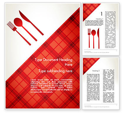 Tablecloth Decoration Illustration Word Template, 13273, Food & Beverage — PoweredTemplate.com