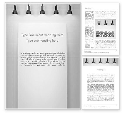 Careers/Industry: Modern Wall Lights Word Template #13274