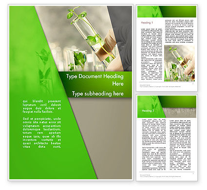 Agriculture and Animals: Genetically Modified Plants Word Template #13282
