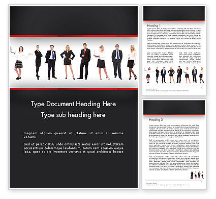 Recruit Word Template, 13287, People — PoweredTemplate.com