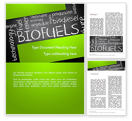 Bio Fuels Word Cloud Word Template, 13289, Nature & Environment — PoweredTemplate.com