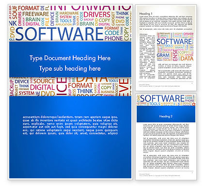 Software Word Cloud Word Template, 13298, Careers/Industry — PoweredTemplate.com