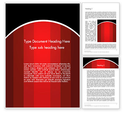 Abstract/Textures: Red Gradient Word Template #13302