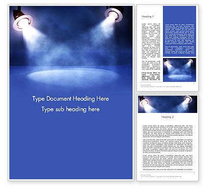 Art & Entertainment: Illuminated Scene Word Template #13304