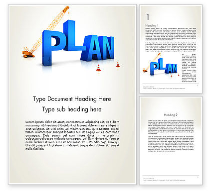 3D: Building Success Plan Word Template #13315