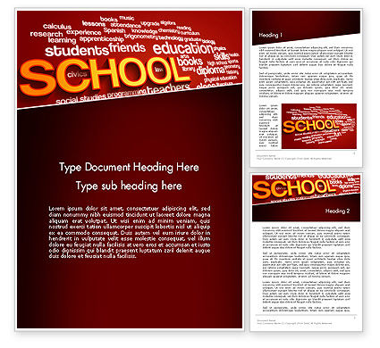 School Word Cloud Word Template#1