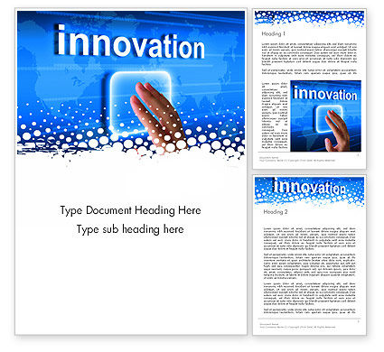 Innovation Button Word Template, 13321, Business Concepts — PoweredTemplate.com