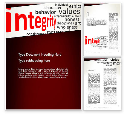 Integrity Word Cloud Word Template, 13333, Consulting — PoweredTemplate.com