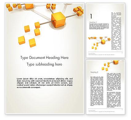 Connection Concept Word Template, 13338, 3D — PoweredTemplate.com