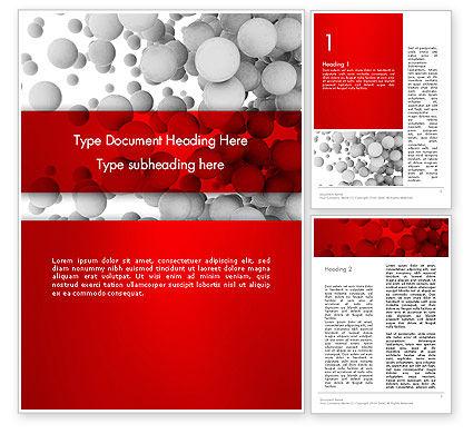 Flying Spheres Word Template, 13346, 3D — PoweredTemplate.com