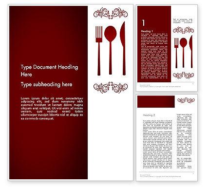 Restaurant Presentation Word Template, 13356, Food & Beverage — PoweredTemplate.com