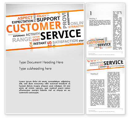 Customer Service Word Cloud Word Template, 13359, Careers/Industry — PoweredTemplate.com