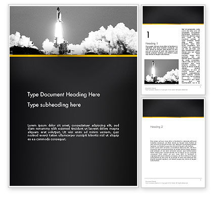 Technology, Science & Computers: Rocket Launch Word Template #13365