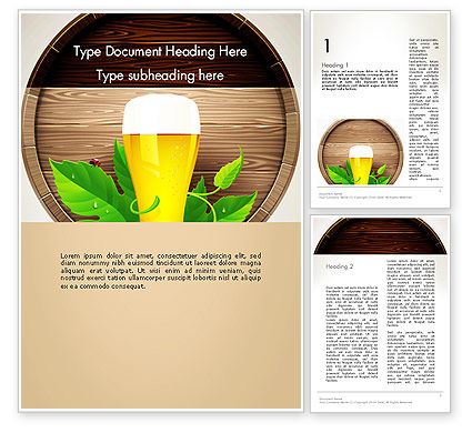 Food & Beverage: Draft Beer Word Template #13366
