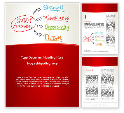 Consulting: SWOT Analysis Strategy Word Template #13370