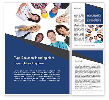 Middle Class People Word Template, 13379, People — PoweredTemplate.com