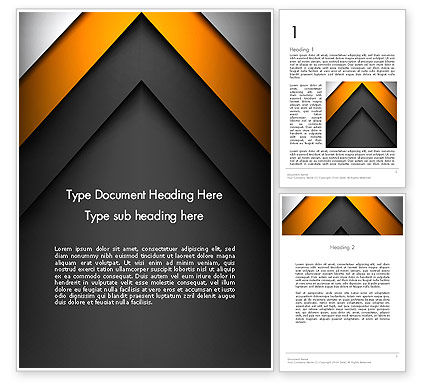 Abstract Right Directional Arrow Word Template, 13384, Business — PoweredTemplate.com