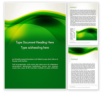 Abstract/Textures: Green Abstract Surface Word Template #13386