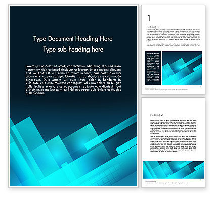 Abstract/Textures: Overlapping Rectangular Turquoise Surfaces Word Template #13393