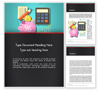 Accounting Software Word Template, 13407, Financial/Accounting — PoweredTemplate.com