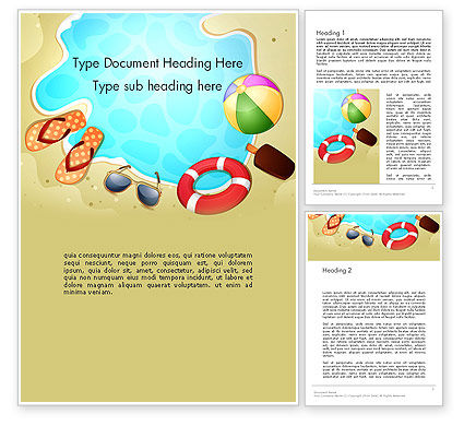 Leisure Word Template, 13408, Holiday/Special Occasion — PoweredTemplate.com