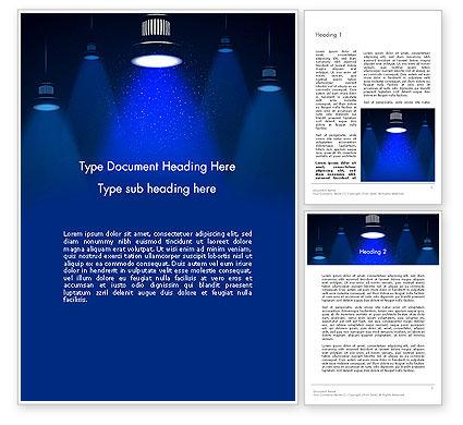 Lighting Word Template, 13411, Careers/Industry — PoweredTemplate.com