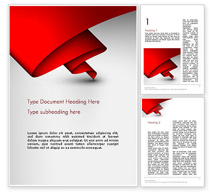 Abstract/Textures: Fluttering Red Banner Abstract Word Template #13416