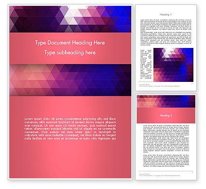 Abstract/Textures: Dreieck subtiles muster Word Vorlage #13419