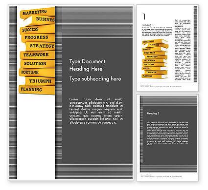 Business Books Word Template, 13427, Education & Training — PoweredTemplate.com