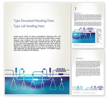 Technology, Science & Computers: Modèle Word de silhouettes d'équipement de laboratoire #13431