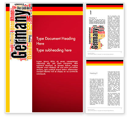 Flags/International: Duitsland Word Cloud Word Template #13432