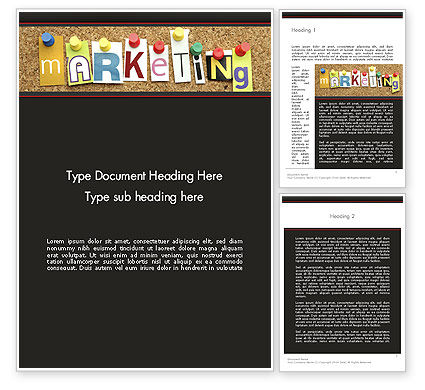 Marketing and Advertising Word Template