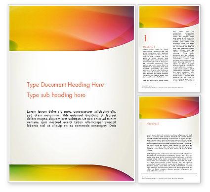Abstract/Textures: Orange grüner farbverlauf abstrakt Word Vorlage #13443