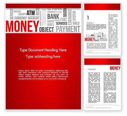 Money Word Cloud Word Template, 13444, Financial/Accounting — PoweredTemplate.com