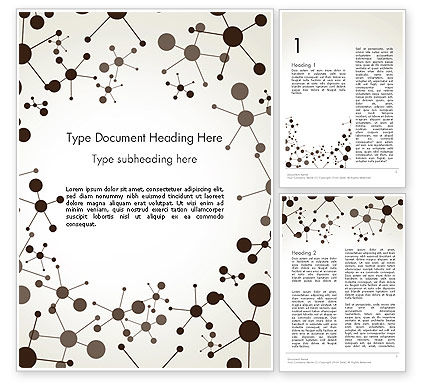 Molecule Background Word Template, 13447, Technology, Science & Computers — PoweredTemplate.com