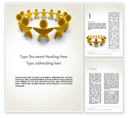 Golden Circle Word Template, 13451, 3D — PoweredTemplate.com