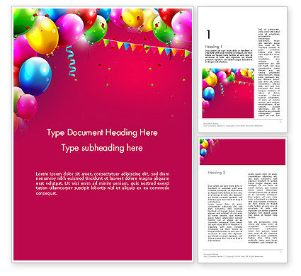 Holiday/Special Occasion: Colorful Birthday Word Template #13452